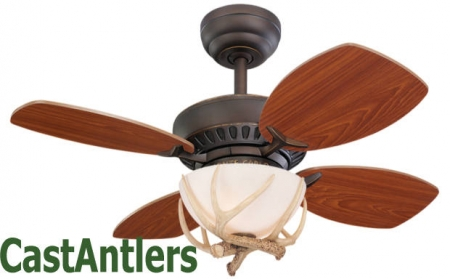 "28"" Wild West Reproduction Antler Ceiling Fan"
