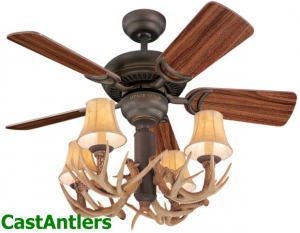 "34"" Reproduction Antler Ceiling Fan"