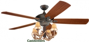 "60"" Cyclone Antler Indoor/Outdoor Ceiling Fan"