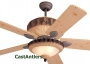 "52"" Dark Lodge Ceiling Fan with Light"