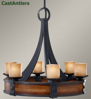 Madera 6 Light Round Chandelier
