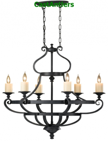 Wrought Iron Table Chandelier
