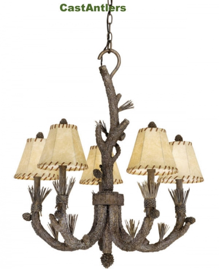 Dakota 5 Uplight Chandelier