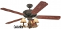 "52"" 3 Light Antler Indoor/Outdoor Ceiling Fan"