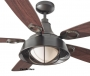 "52"" Cage Downlight Rustic Ceiling Fan"