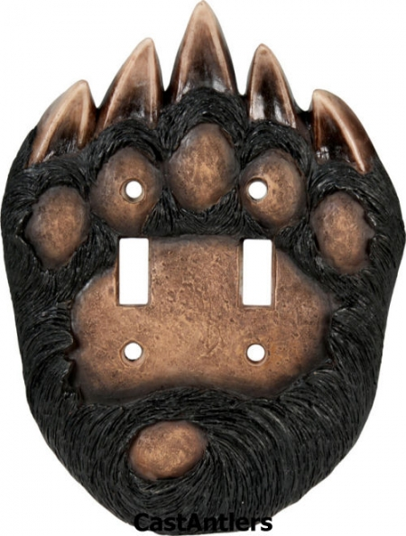 Bear Paw Double Toggle Plate Cover