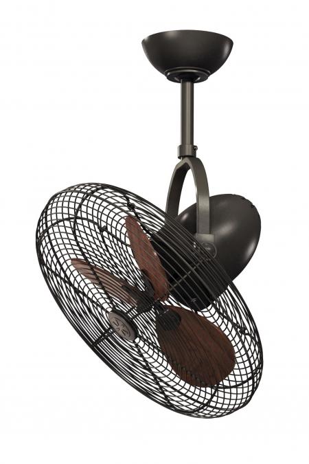 Cage Bronze Indoor / Outdoor Ceiling Fan