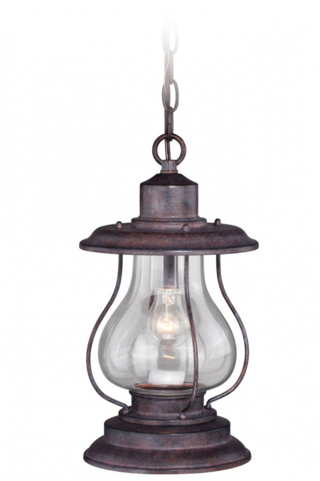 14 Quot Outdoor Rustic Finish Western Lantern Hanging Pendant