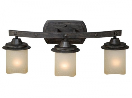 3 Light Black Walnut Vanity Light