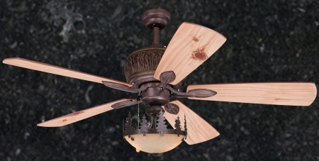 Mountain Knotty Home Rustic Ceiling Fan