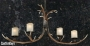 4-Light Lodge Cast Antler Chandelier