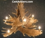 Moose 10 Cast Antler Chandelier w/ Downlight