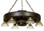 "Wagon Wheel Chandelier - 30"" Downlight Reproduction"
