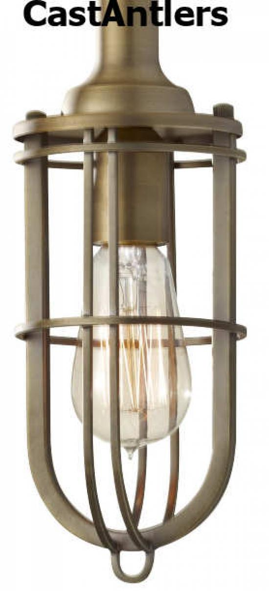 Industrial Light Pendant - Antique Brass