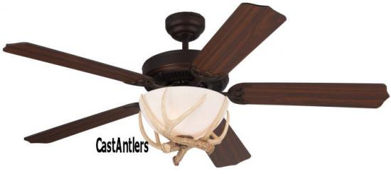 "52"" Rustic Dakota Faux Antler Ceiling Fan Indoor/Outdoor"
