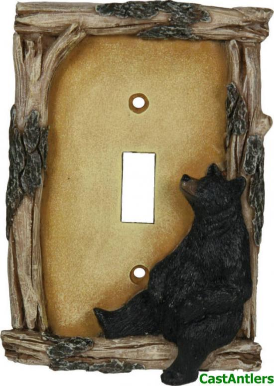 Black Bear Single Toggle Plate Cover