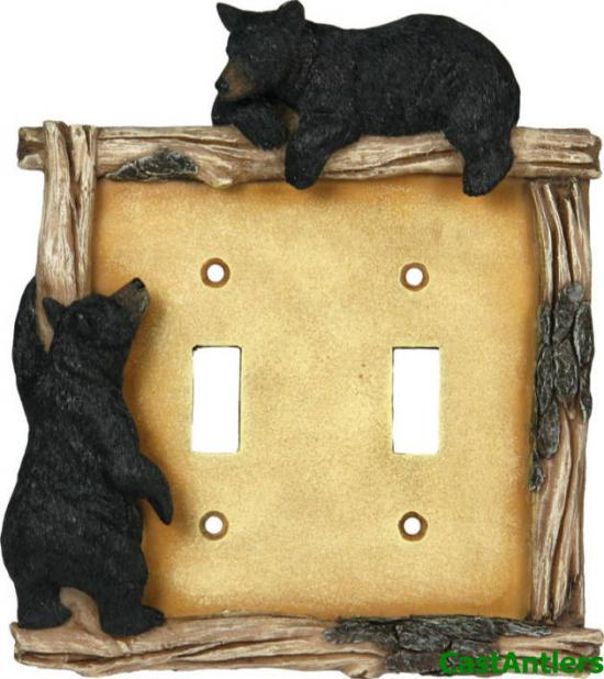 **6 PACK**Black Bear Double Toggle Plate Cover