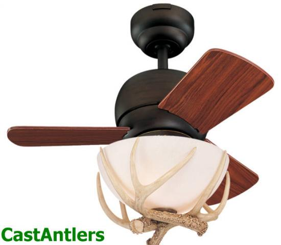 "24"" Wild West Reproduction Antler Ceiling Fan (Indoor/Outdoor)"