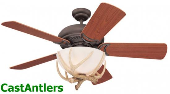 "44"" Montana Reproduction Antler Ceiling Fan"