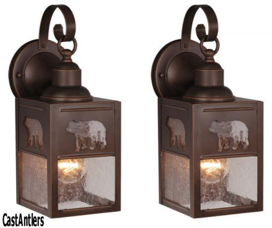 5in Outdoor Wall Light (Bear) -- price is per pair