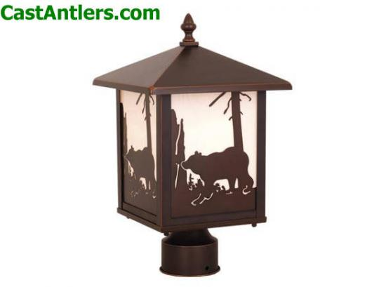 Outdoor Post Light (Bear)