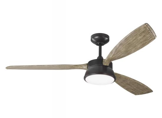 "57"" Mid Century Modern Outdoor/Indoor Downlight Rustic Ceiling Fan"