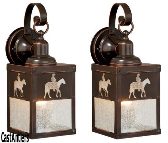 5in Outdoor Wall Light (Horse) -- price is per pair