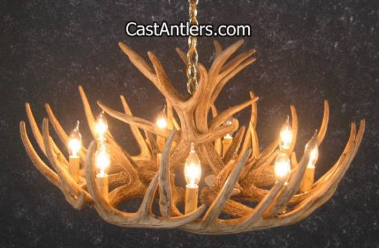 Deer Creek Twelve Antler Chandelier