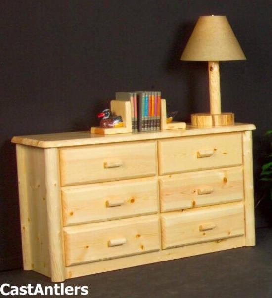Traditional 6 Drawer Dresser