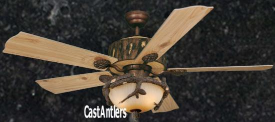 "52"" Weathered Patina Ceiling Fan"