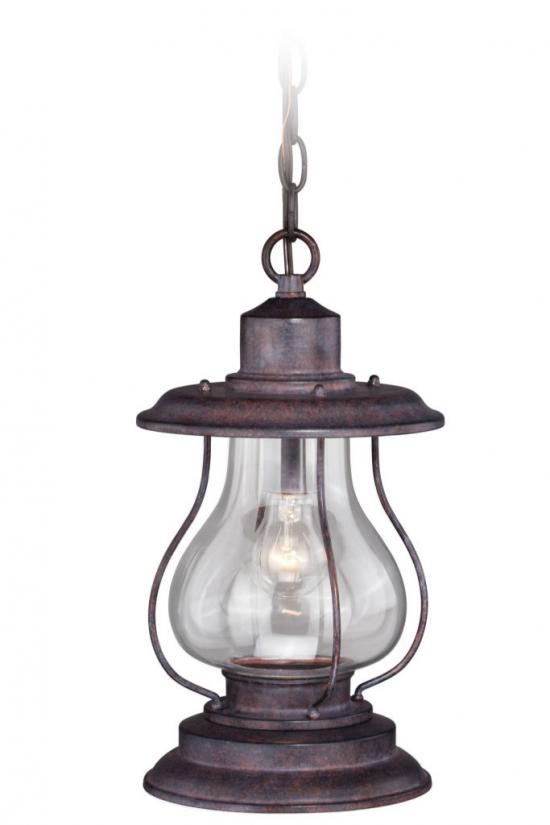 "14"" Outdoor Rustic Finish Western Lantern Hanging Pendant"