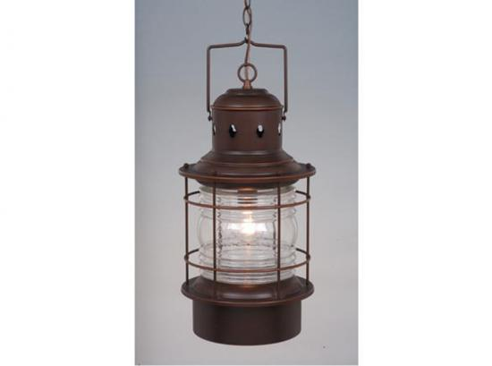 "22"" Outdoor Rustic Finish Western Hanging Lantern Pendant"