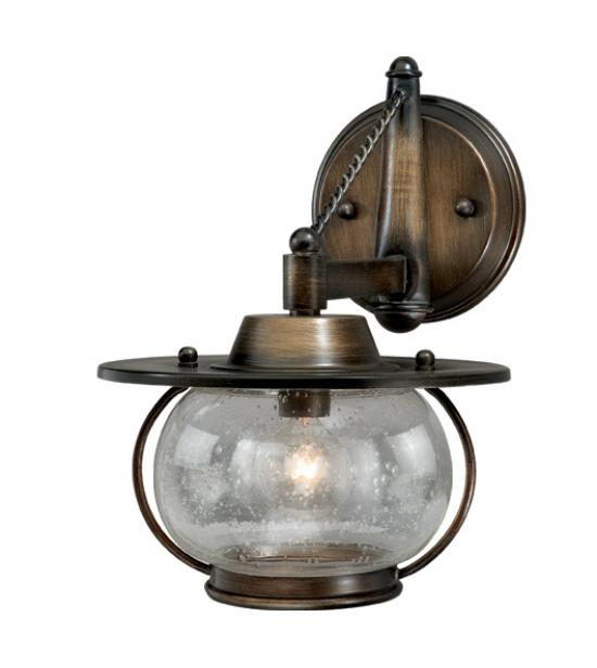 1-Light Western Rustic Vanity Light