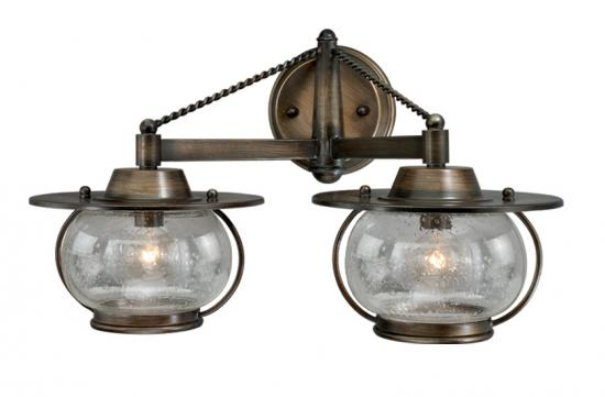 2-Light Western Rustic Vanity Light