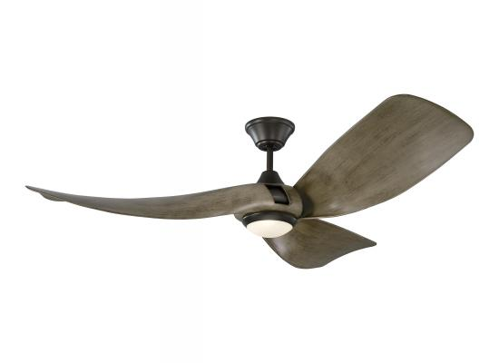 "56"" Mid Century Modern Outdoor/Indoor Ceiling Fan Aged Pewter"