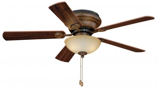 "42"" Flushmount Aged Walnut Ceiling Fan"