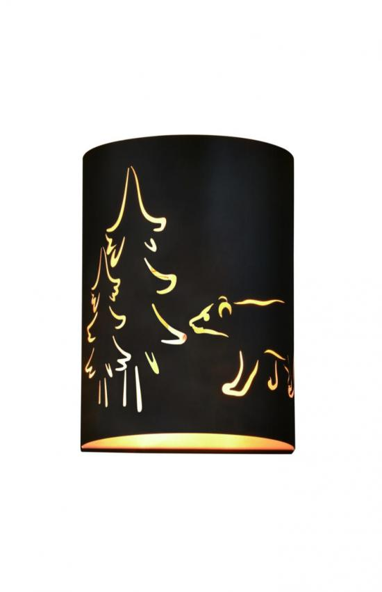 Contemporary Rustic Bear Bronze 2 Light Wall Sconce