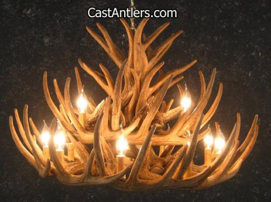 Whitetail 21 Cast Cascade Antler Chandelier