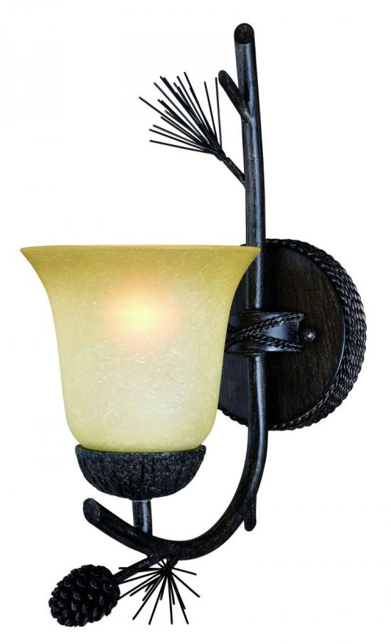 1-Light Cabin Wilderness Nature Wall Light