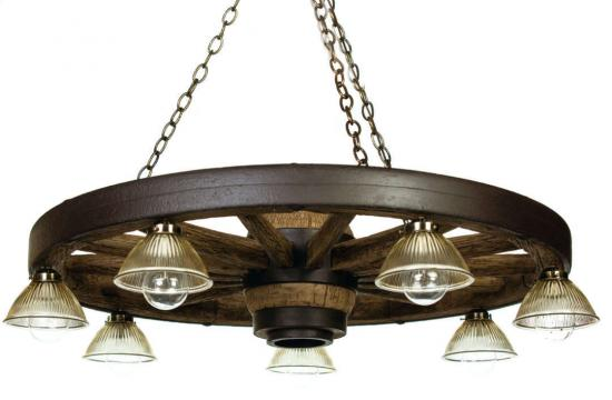 42 inch Downlight Reproduction Wagon Wheel Chandelier