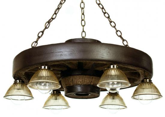 "30"" Downlight Wagon Wheel Chandelier"