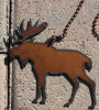 Moose Rustic Fan Pull